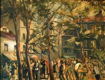 Plaza de los artistas en Paris