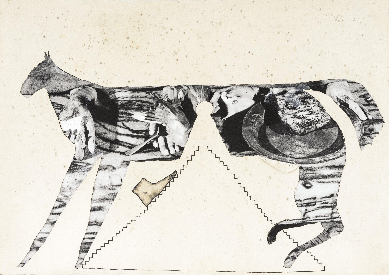 Horse and pyramid